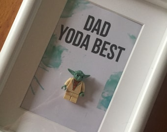 Dad yoda best Star Wars lego yoda frame Father's Day birthday gift present