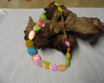 Shell Multi Coloured Graduated Necklace