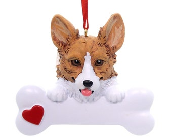 Corgi Personalized Christmas Ornament, Corgi, Ornament,Personalized, Corgi Ornament, Personalized Ornament