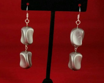 Chunky silver earrings