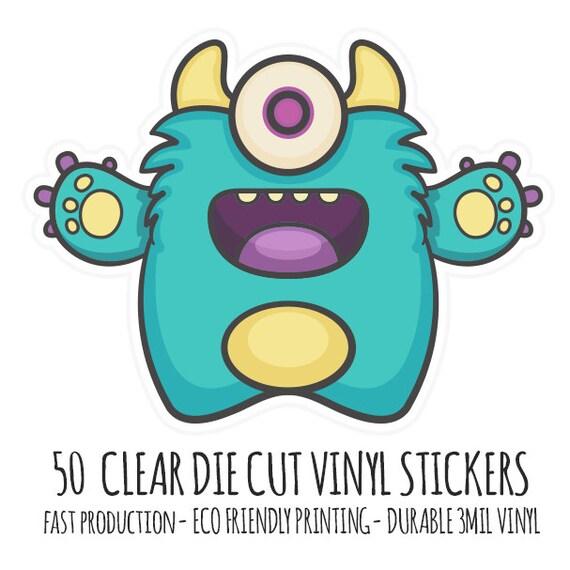 CLear Diecut Custom Stickers Clear Vinyl Die Cut Stickers Cut - Custom die cut vinyl stickers fast