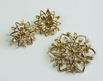Vintage, Gold Tone Demi Parure by Sarah Coventry (SA032))