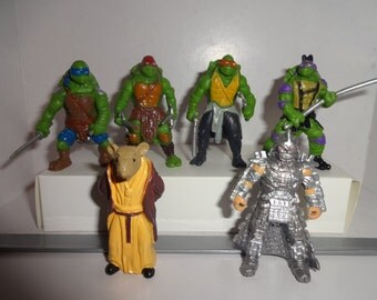 Mister A Gift TMNT Turtles with shredder cake toppers 6 plastic figures