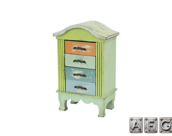 Shabby Chic Cabinet 4 drawers