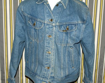 Vintage Lee Denim Jean Jacket Size L