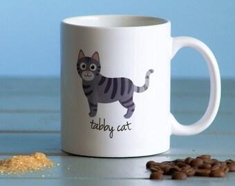 Tabby Cat Mug (gray)