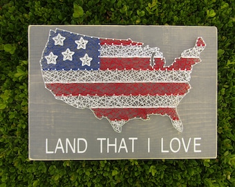 USA Land that I love String Art *Made-to-Order*