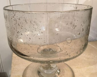 Biot vintage glass bowl