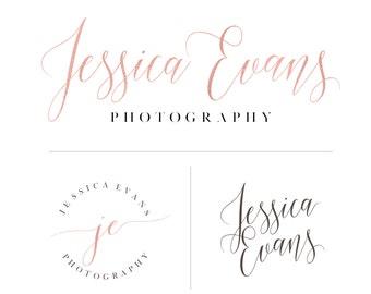 Custom Pre-Made Logo Design, calligraphy business logo, business branding, photographer branding logo