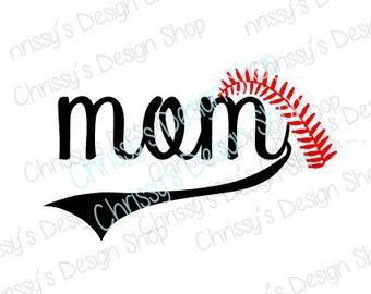 Baseball mom svg / baseball svg / mom svg / baseball mom cut file / baseball mom clip art / mom clip art / baseball clip art / vinyl crafts