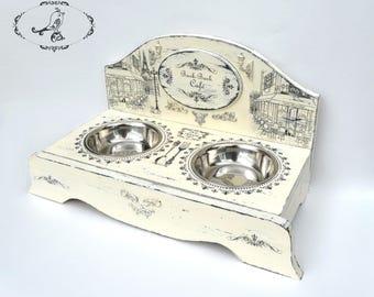elevated pet feeder, pet bowl stand, elevated dog bowl, pet bowl, bowl holder