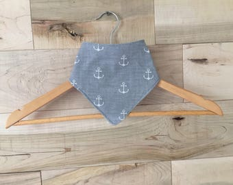 Bib for baby - bandana anchor boat