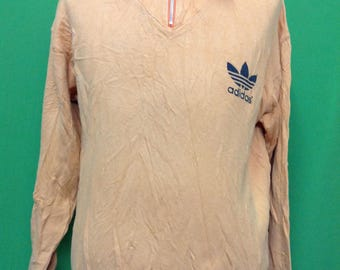 Vintage ADIDAS trefoil big logo Large size sweatshirt