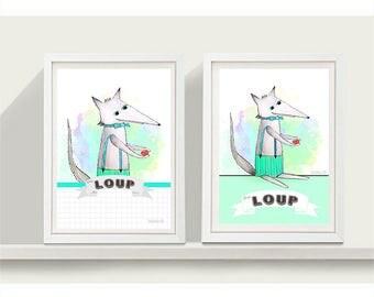 Joyful Wolf illustration