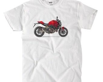 Ducati Monster 821 Motorcycle - White T-shirt