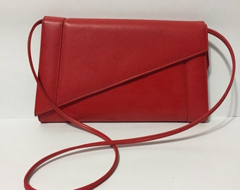 Red Patent Leather Purse - Bold Red Shoulder Purse