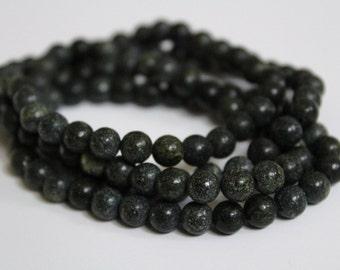 Beaded Stackable Black Bracelet