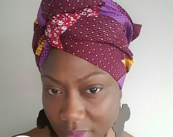Sale !!! African Headwraps | Ankara Print Headwrap | Print headscarf | African Print Headwrap /Squares