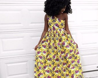 African maxi dress  Etsy