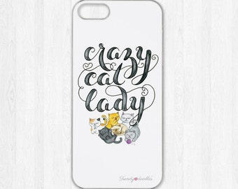 Crazy cat lady iphone case