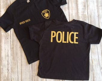 Police shirt, personalized police shirt, police officer shirt, toddler boy police shirt, toddler girl police shirt, infant police shirt