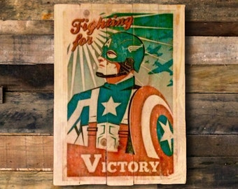 Victory Shabby Chic; Retro; Wooden; Upcycled Sign/Plaque or Picture