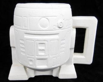 Vintage R2D2 Star Wars Mug, Greenware