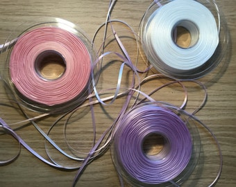 Double Faced Satin Ribbon 3mm wide.