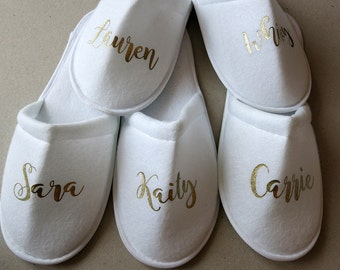 Bridesmaid Slippers,Bride Slippers ,Personalized Slippers ,Wedding Slippers Bridal Slippers-
