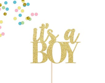 Baby Shower Cake Topper | Baby Boy Cake Topper | Its A Boy Cake Topper | Gender Reveal Party | Boy or Girl Cake Topper | Baby Announcement
