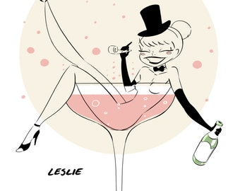 Champagne Pinup