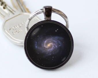 Nebula spiral galaxy keychain Galaxy key ring Nebula key chain Galaxy jewellery Nebula pendant Space keychain Astronomy gift Nebula jewelry
