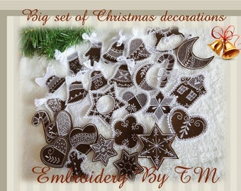 60% OFF - Price after discount-Mix big set of Christmas decorations...4x4 hoop- and tutorial video!
