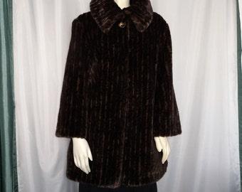 20% OFF Faux Fur Jacket/Brown Faux Fur Jacket/Size M/L Faux Fur Jacket/ Winter Faux Fur Coat/Luxurious Faux Fur Jacket Item Nr. 152A