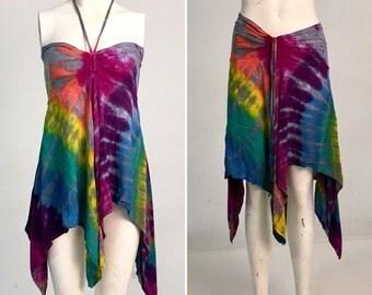 Convertible Top/Skirt Rainbow Waves - Size Medium