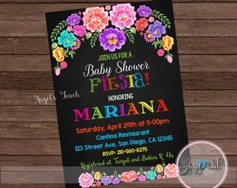 Fiesta Baby Shower Invitation, Fiesta Baby Shower, Fiesta Mexicana Baby  Shower Invitation, Mexican