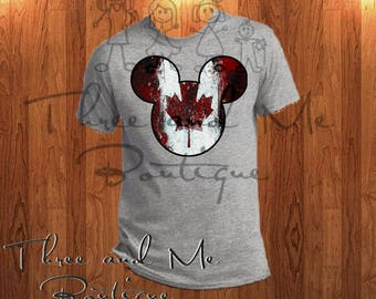 Canadian Flag Inspired Mouse Ears; Mickey Mouse Inspired Canada Ears