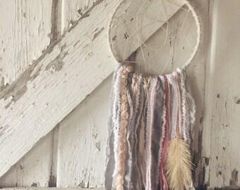 Kindred Vintage Grey & Pink Dreamcatcher