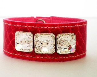 Snakeskin Bracelet with Swarovski Crystals
