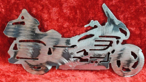 """Gold Wing Style Motorcycle 5"""", Wall Hanging, Magnet, Biker, Toolbox Magnet, Refrigerator Magnet"""