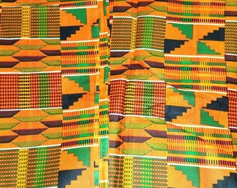 Kente/Ankara Fabric by the yard /African fabric/ Ankara fabric/ kuba Tribal Print Fabric/ African Cloth/ Ankara Wax Print/geometric print.