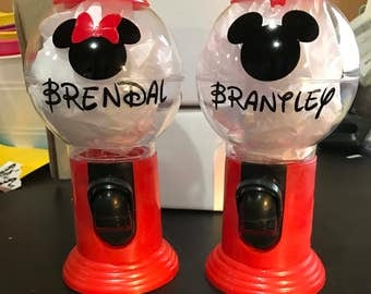 Personalized Gum Ball machine, gumball machine, party favor,