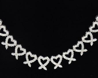 18K White Gold Necklace/Diamond- 11.54ct