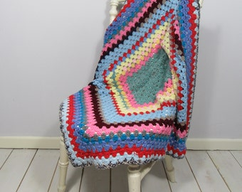 Crochet Throw, Granny Square Throw