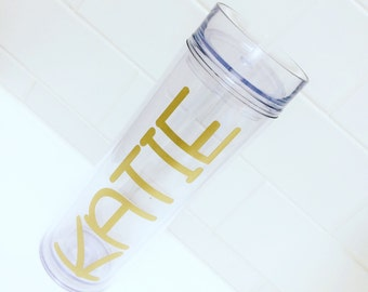 Personalized Tumblers | Gift for Her | Bridesmaid Gift | Monogram Water Bottle | Personalized Water Bottle