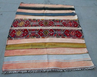 vintage soumak kilim rug 155x112 cm 5x3,6 feet,turkish kilim,kilims, cotton kilim,wool kilim,decoratif kilim,embroidered kilim