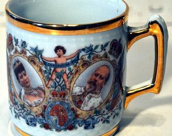 Antique Porcelain Mug Coronation of Edward 8th
