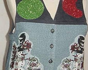 Ugly christmas vest tacky christmas vest party vest size M