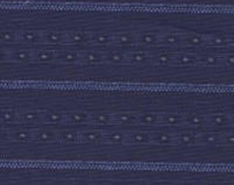 By the HALF YARD - Everything Blue 2 by Marsha McCloskey for Clothworks, Pattern #Y1544-93, Tonal Dark Blue Stripes, Dotted Stripes