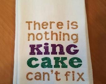 King Cake decorative kitchen towel